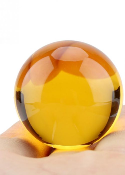 Amber-Crystal-Glass-Ball-Sphere-Fengshui-Home-Office-Miniature-Oornaments-For-Gifts